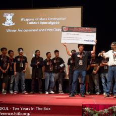 ... and to present the USD3133.7 to the 2012 champions, Kaijern Lau of PandaLabs!