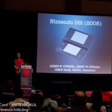 In a change to the agenda, Peter 'bl4sty' Geissler talked about 10 years of game console security