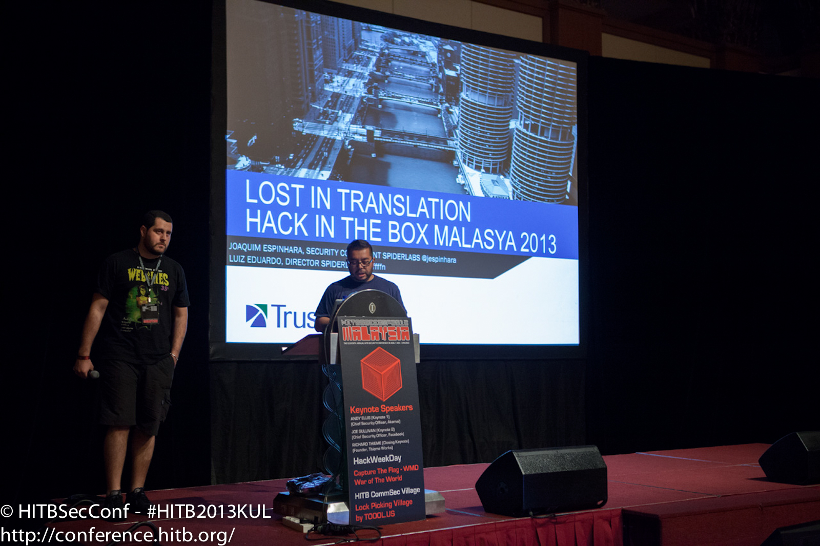 In track 3, Luiz Eduardo and Joaquim Espinhara from Trustwave were getting lost in translation